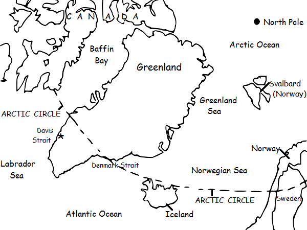 Greenland Printable Handout With Map And Flag Teaching Resources