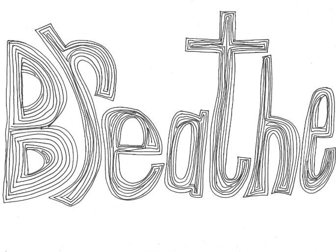 Breathe (Classroom Rules) Colouring Page