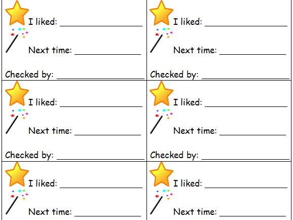 Peer Assessment slips