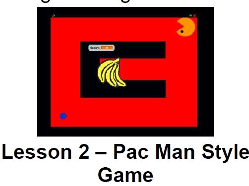 Scratch 1.4 Lesson 2 – Pac Man Style Game