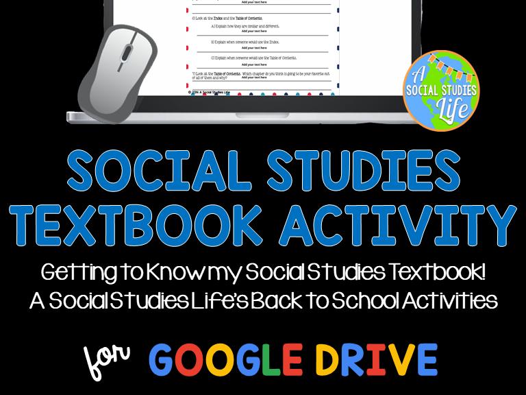 Social Studies Textbook Activity
