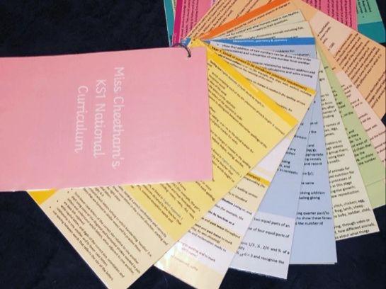 KS1 National Curriculum Cards