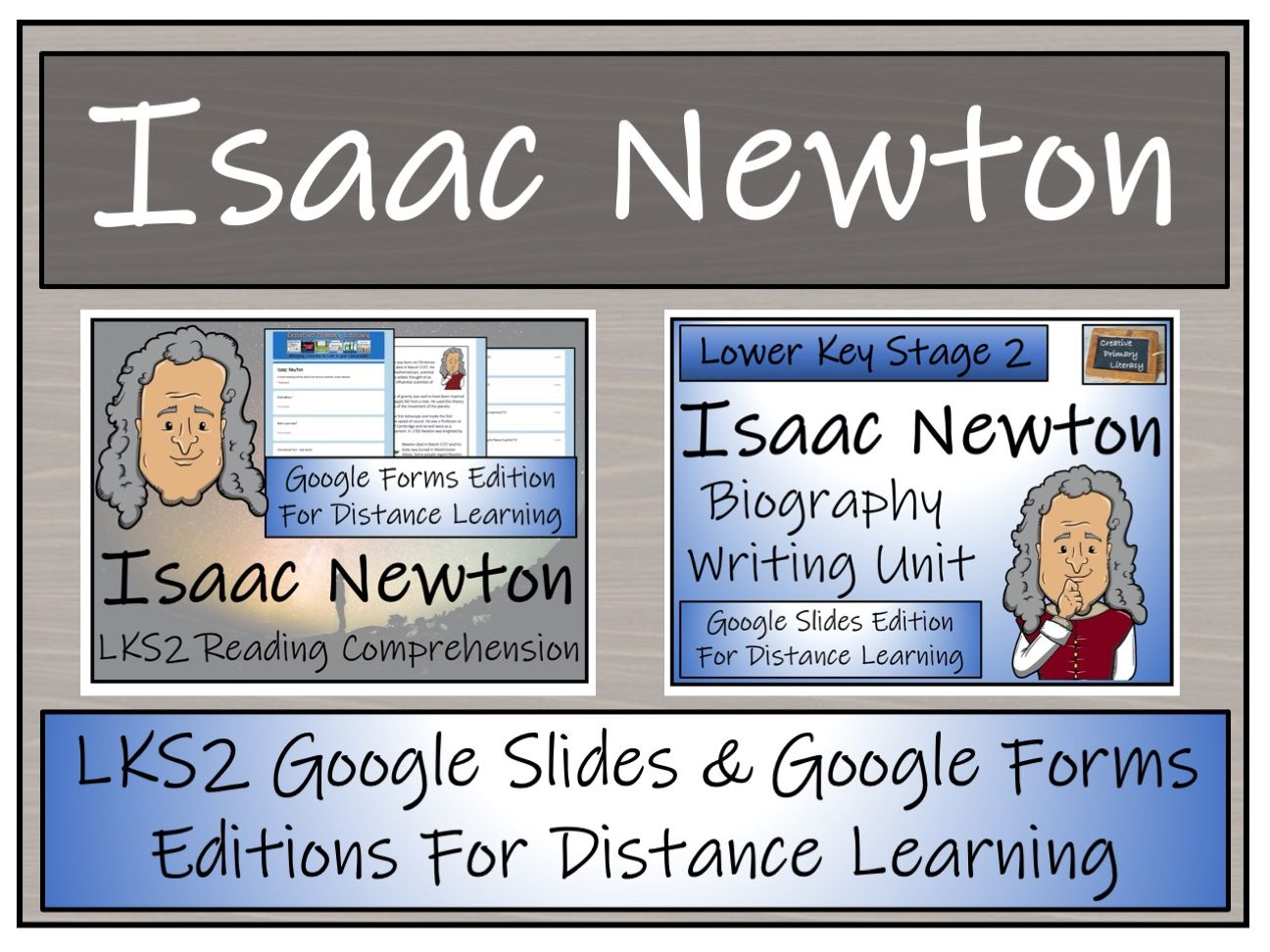 LKS2 Isaac Newton Biography & Reading Comprehension Distance Learning Bundle