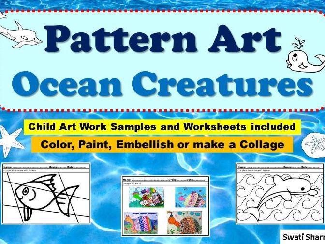 Art Project Pattern Art/Pop Art Ocean Animals