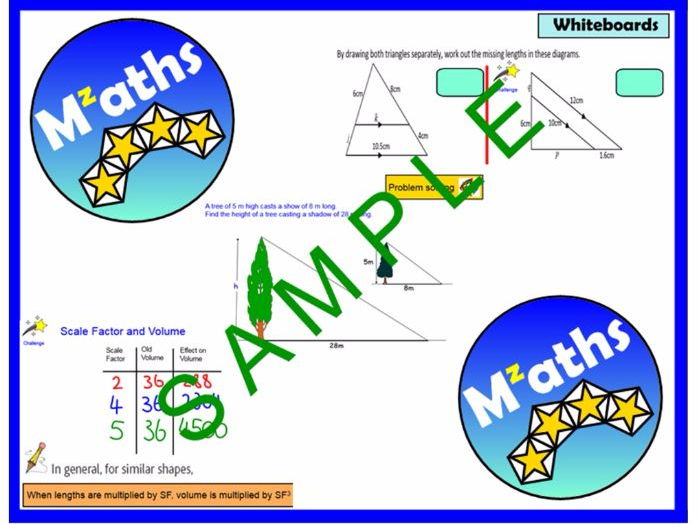 Similar Shapes (4 Lessons) - Missing Sides/Area/Volume/Problem Solving