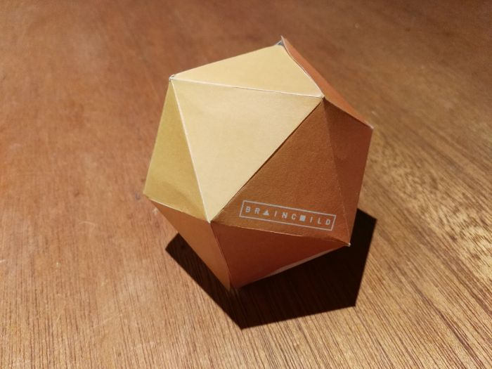 Build an Icosahedron from a 2D net