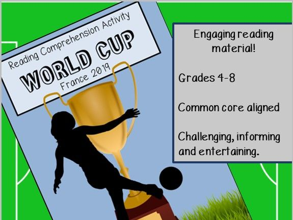 Women's World Cup 2019 Guided Reading Comprehension Activity