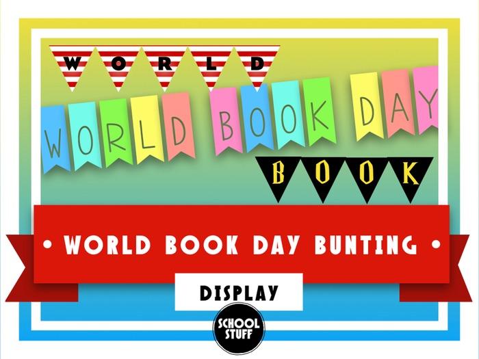 World Book Day Bunting - Display - School Stuff