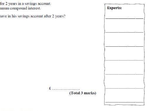 Percentages Exam Questions