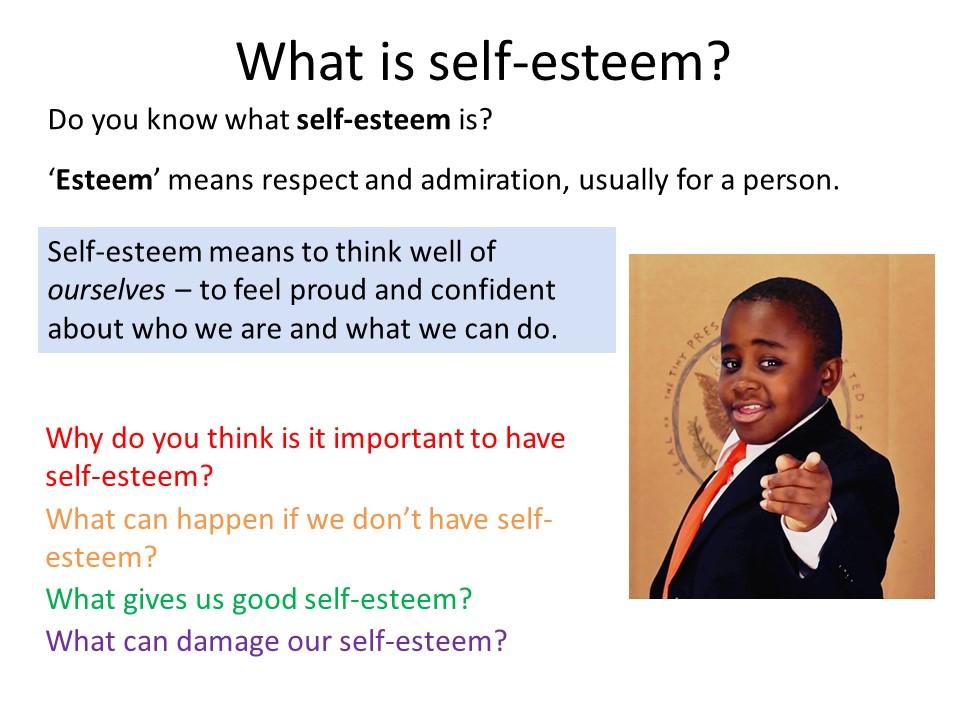 PSHE- Self Esteem