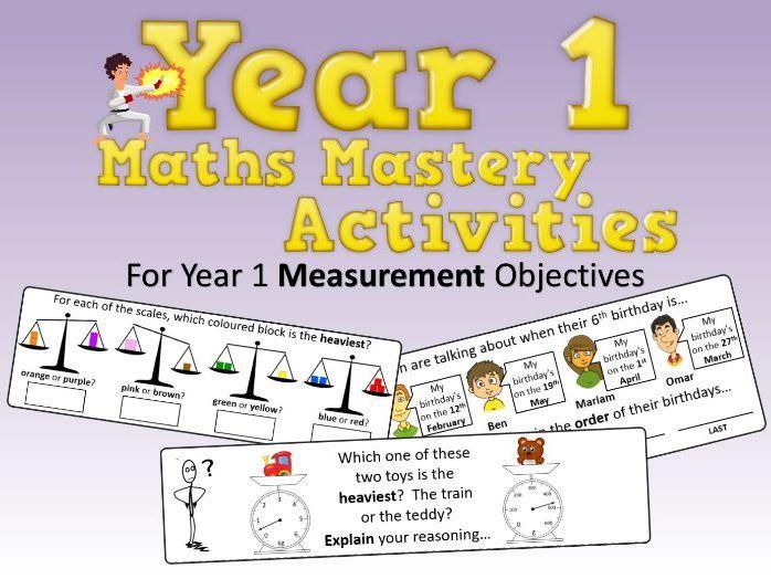 Measurement Mastery Activities – Year 1