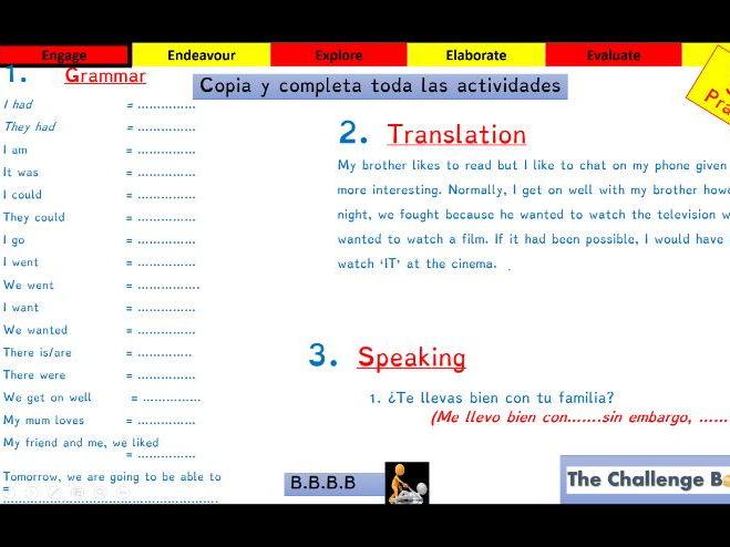 Viva GCSE - Module 4 - Que sueles hacer - Lesson 1