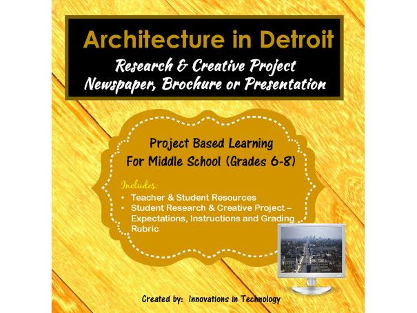 Architectural Landmarks in Detroit - Research & Creative Technology Project