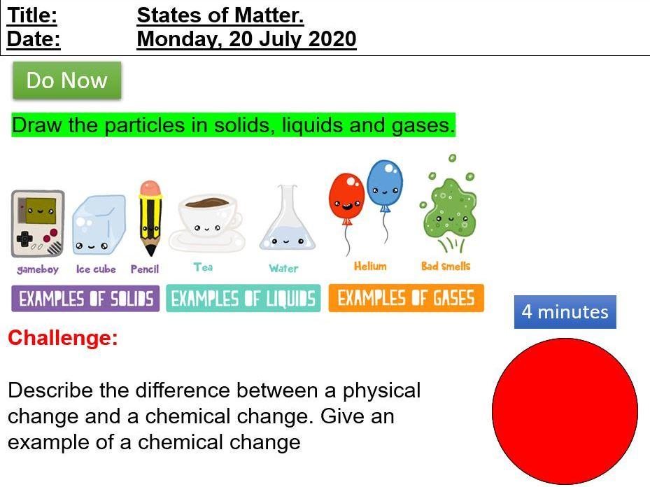 Edexcel CC1a States of Matter