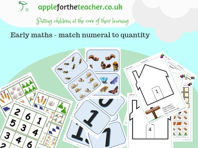 Match numeral to quantity activities Early Years Year 1 KS1 SEN