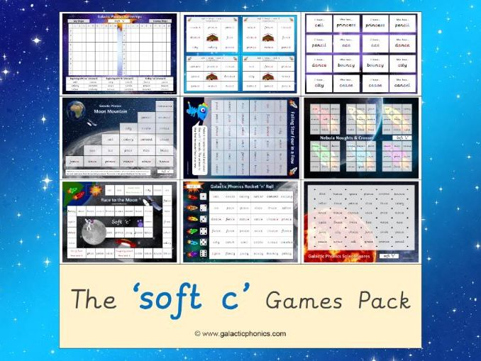 The 'soft c' Phonics Games Pack (Year 2)