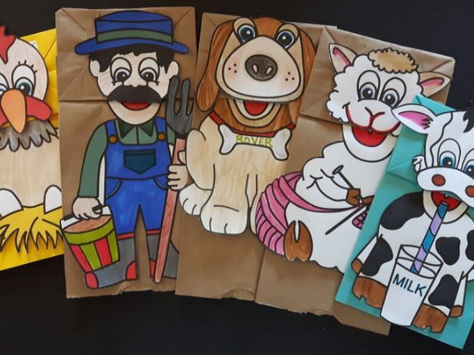 On The Farm #1 Paper Bag Puppets