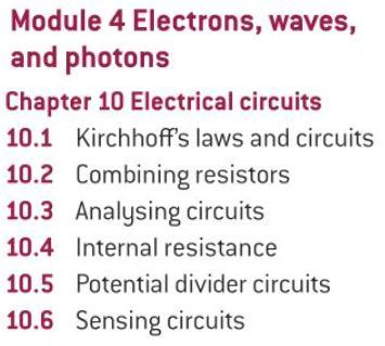 OCR AS level Physics: Electrical Circuits