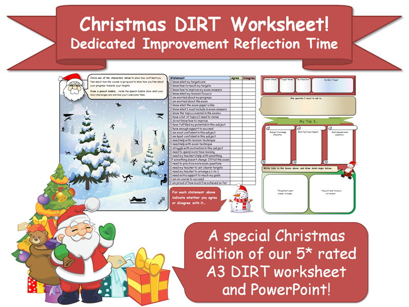 DIRT Worksheet (Christmas Edition!)