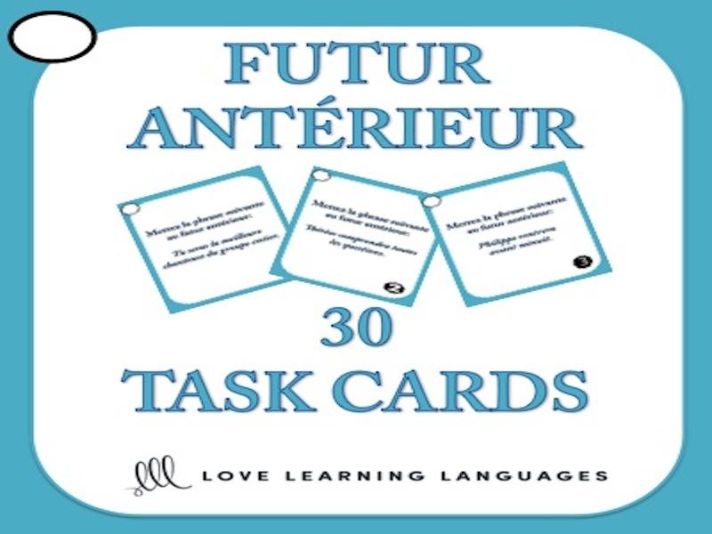 Futur Antérieur Task Cards + Powerpoint