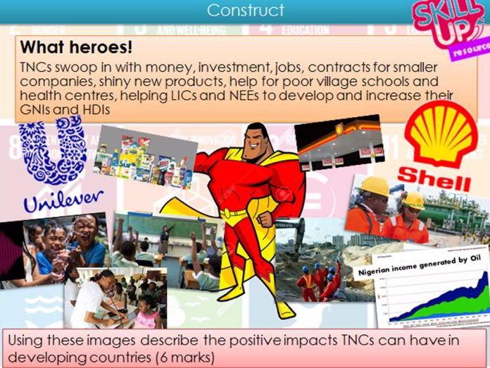 LIC / NEE Case Study: Nigeria TNCs vs Aid - AQA GCSE Geography - Economics
