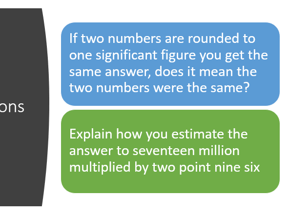 Rounding to Significant Figures and truncation