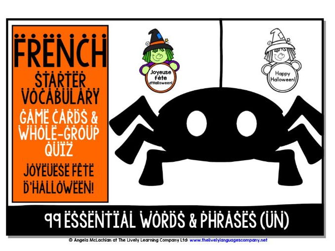 FRENCH VOCABULARY HALLOWEEN GAMES & QUIZZES 99 WORDS & PHRASES (1)