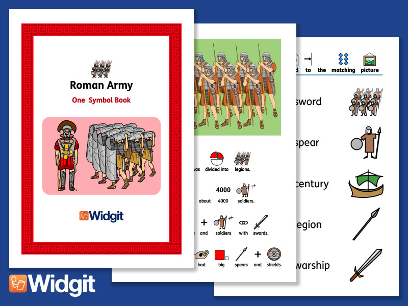 The Roman Army - History Book and Activities with Widgit Symbols