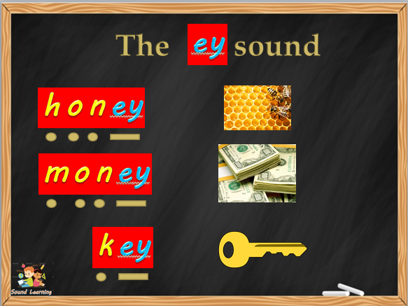 Teach the EY digraph, phonics, reading, spelling and writing.