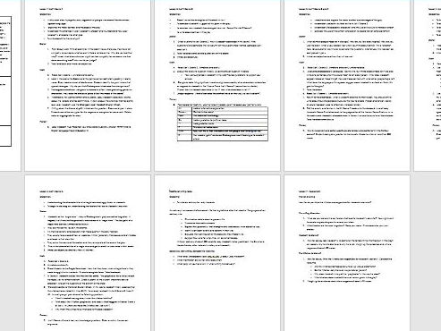 Macbeth Act V Scheme of work, with lessons plans, teacher sheets and ...