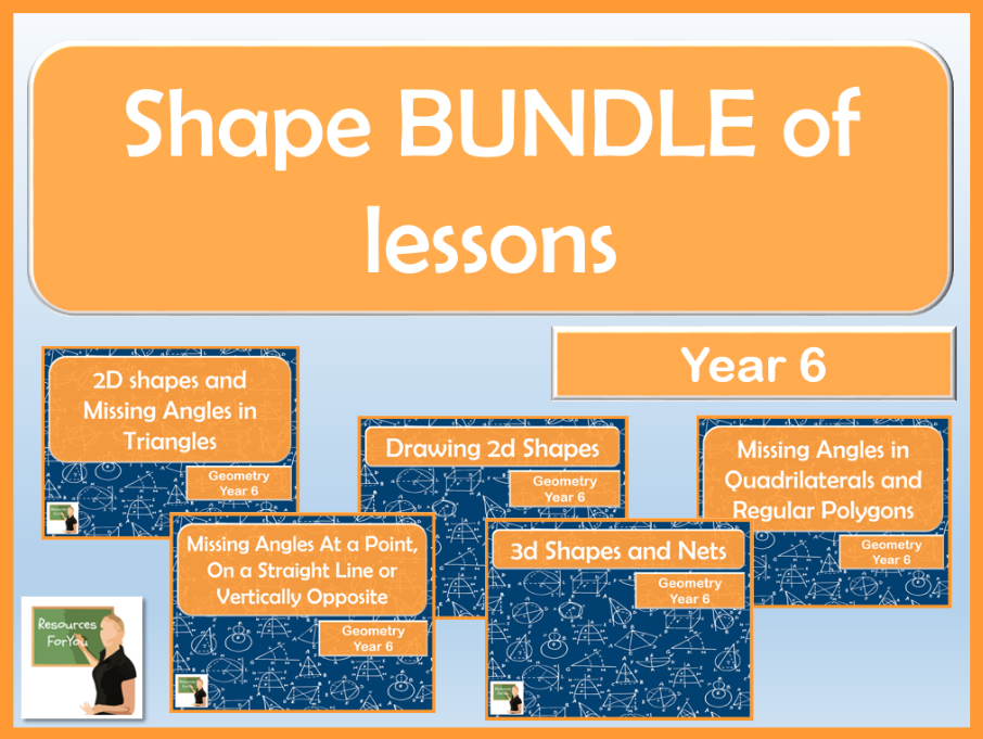 Maths Shape BUNDLE Year 6