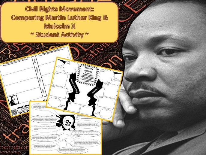 Civil Rights Movement: Comparing Martin Luther King & Malcolm X Activity (U.S. History)