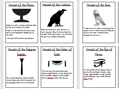 Ancient Egyptian Amulets and their meanings