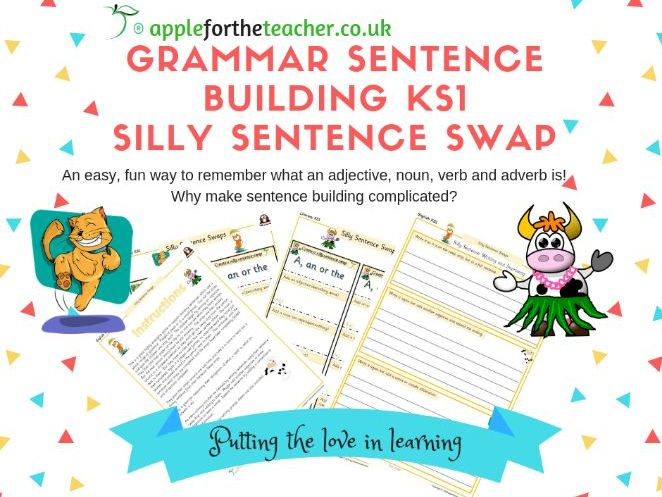 Grammar sentence building KS1 game