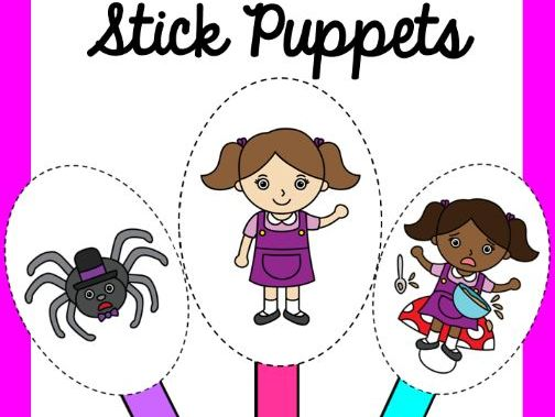 Little Miss Muffet Stick Puppets