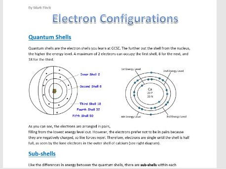 Electron Configuration Booklet
