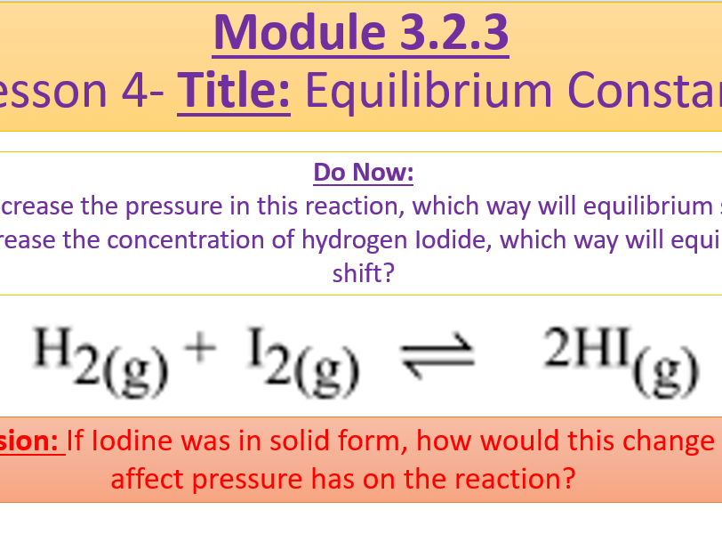 A Level Chemistry OCR A Module 3.2.3