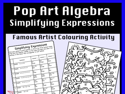 Simplifying Expressions - Colour by Number Activity
