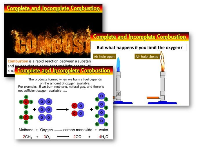 AQA Chem / Trilogy - Complete and Incomplete combustion