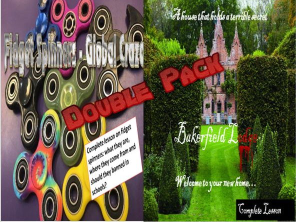 Bakerfield Lodge Murder Mystery and Fidget Spinners Double Pack with Starters
