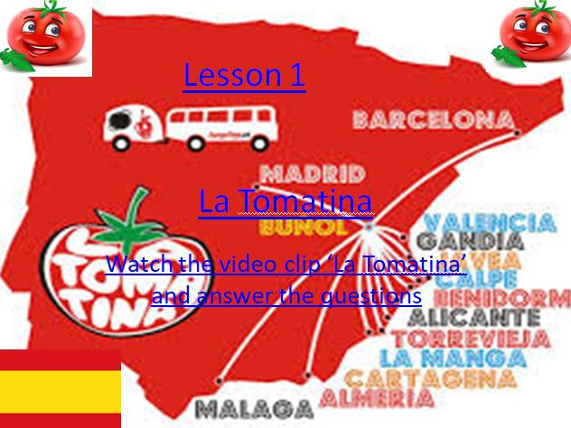 GCSE Spanish  La Tomatina Intro.