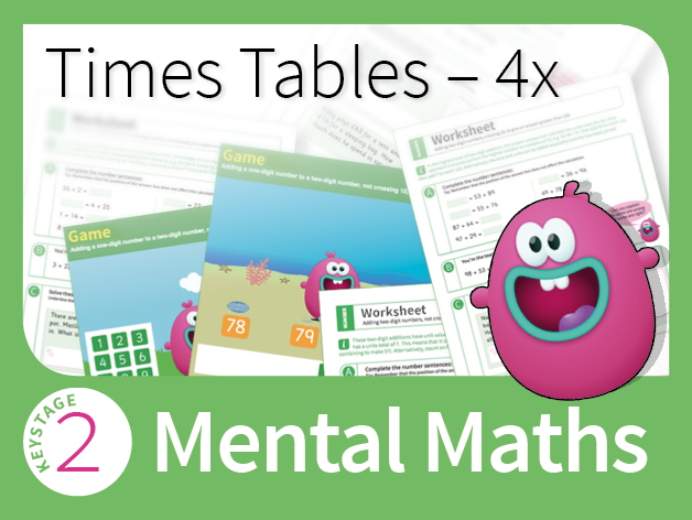 Times Tables Mastery - 4 Times Table
