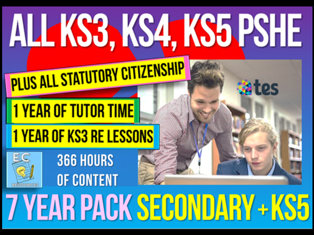 Complete PSHE, Citizenship, RE and Tutor Time