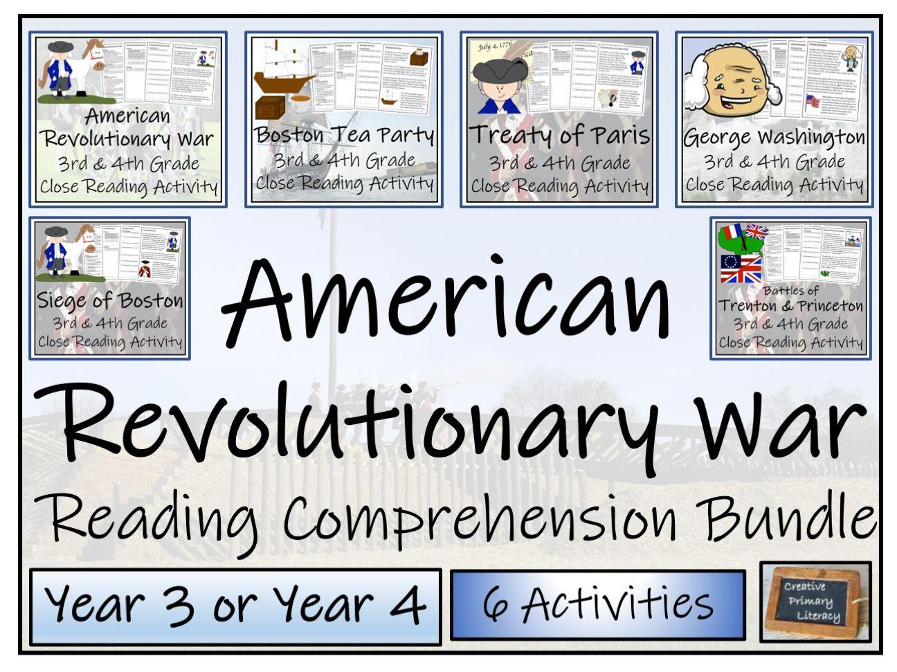 LKS2 American Revolutionary War Close Reading Activity Bundle