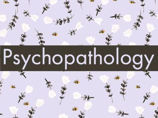 Psychopathology evaluation points