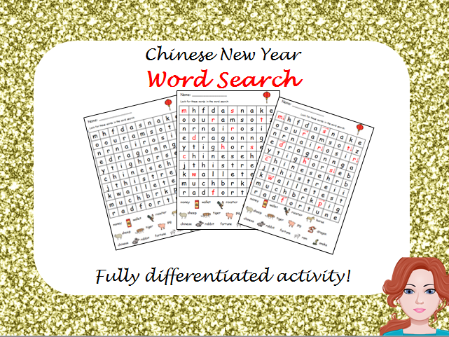 Chinese New Year - Wordsearch (differentiated)