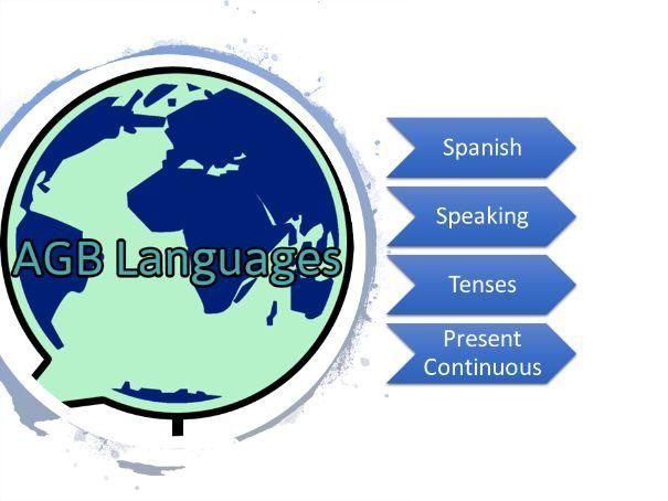 Spanish Present Continuous Photo Speaking