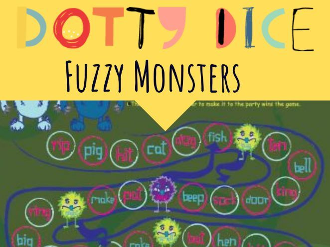 Board Game - Rhyming Words - Fuzzy Monsters