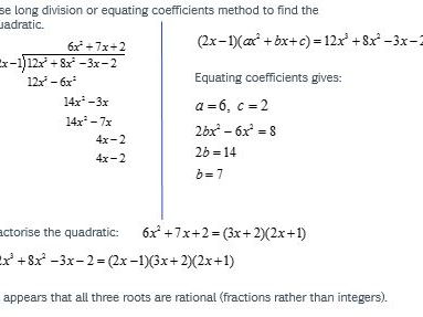VCE Methods Rational Root Theorem and Polynomial Graphs.