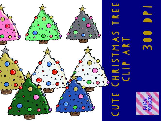 Cute Christmas Tree Clipart